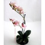 Orchidee Phalaenopsis auf Sandsockel - Kunstblüte rosa  ca.31 cm