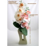 Orchidee Phalaenopsis De Lux mit Perle - Kunstblüte sortiert  ca. 66 cm