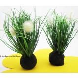 Grasbüschel-Kunstblume auf Sockel sortiert ca. 20 cm