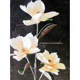 Magnolienzweig geschäumt, künstlich  lachs-weiß ca. 102 cm