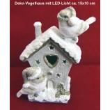 Deko-Vogelhaus mit LED-Licht ca. 15x10x6 cm (HxBxT)