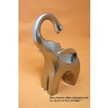 Deko-Elefant silber matt-glänzend ca. 22,0x7,0x16,0 cm H/B/L
