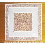 Deckchen 26 x 26 cm ecru m. Kristall- Plauener Spitze