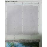 Zugrollo - Raffrollo - Fertigrollo Natur-Grau ca. 90 x 160 cm
