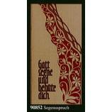 """Glückwunschkarte """"Segenswunsch"""" Klappkarte Furnier 21 x 10 cm"""