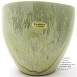 Übertopf  Keramik bambus - grün ca. 17x19 cm (HxD) Echt Handarbeit