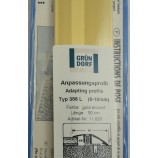 Anpassungsprofil für Beläge 6-10 mm Gold eloxiert 44mmx90cm (BxL)