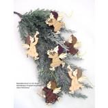 Baum- und Strauchschmuck 6-er Set Engel naturfarben, ca. 7,0 cm