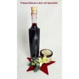 Weihnachtsgeschenk fertig verpackt Beeren-Likör mit Speckfett