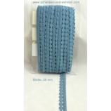 Baumwoll-Spitze Borte 25 mm breit taubenblau Bernau