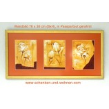 Wandbild 78 x 38 cm (BxH) in Passepartout (3) gerahmt