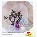 LED-Bild Stillleben Orchidee und Steine ca. 25 x 25 cm