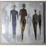 Wandbild Gemälde People, farbig, ca.50x50 cm