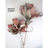 1 Kunstblüte-Zweig altrosa/grün, ca. 100 cm Gesamtlänge