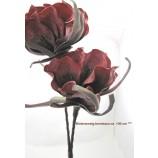 1 Kunstblüte-Zweig bordeaux, ca. 100 cm Gesamtlänge