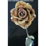 Naturblume - Solarpflanze, Rose braun ca. 60 cm lang