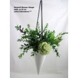 Keramik Blumen Hänger weiß, ca 22 cm