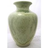 Bodenvase Keramik ca. 46cm bambus grün Echt Handarbeit