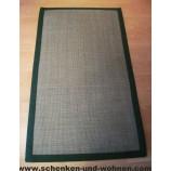 Bordürenteppich - 100% Sisal Naturfaser, grün 80 x 140 cm