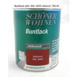 ProfiDur Buntlack - Kunstharzlack, seidenmatt RAL 3003 Rubinrot 750 ml