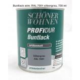 ProfiDur Buntlack - Kunstharzlack, seidenmatt RAL 7001 Silbergrau 750 ml