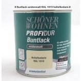 Profidur Buntlack - Kunstharzlack, seidenmatt RAL  1015 hellelfenbein 0,375 l