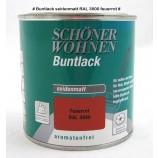 Profidur Buntlack - Kunstharzlack, seidenmatt RAL  3000 feuerrot 0,125 l