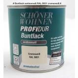Profidur Buntlack - Kunstharzlack, seidenmatt RAL  9001 cremeweiß 0,375 l