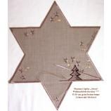 Plauener Spitze Weihnachten Deckchen Stern, grau-braun, taupe Ø ca.30 cm