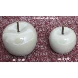 Deko Apfel groß cremeweiss ca. 10 cm Perlmutt