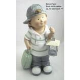 Deko-Figur Paul mit Laterne ca. 43 cm