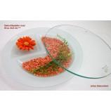 Deko-Glasteller satiniert rund Ø 24,5 cm