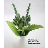 1 Deko-Zweig grün ca. 27 cm
