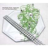 Dekokugel Drahtkugel,  Grün mit silbernen Kugeln ca. 7 cm Durchmesser
