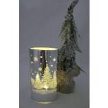 LED Deko-Licht Leuchte Winterzauber silber warmweiß, ca. 15 cm