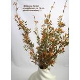 1 Dillzweig Herbst, künstlich, orange/braun, ca. 70 cm