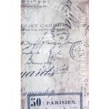Dekostoff mit modernem Schriftdruck creme 145 breit
