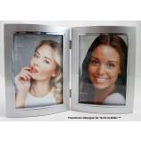 Doppel-Fotorahmen Bilderrahmen 13 x 18 cm silber