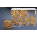 Drahtbälle, Drahtkugeln 6-er Set Kupfer, ca. 5 cm Durchmesser