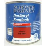 Duracryl Buntlack glänzend Feuerrot RAL 3000 wasserverdünnbar 125 ml