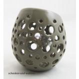 Deko - Ei mit Löchern - Windlicht - Teelichthalter, taupe ca. 14 cm hoch