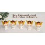 Engel-Figuren 5 cm Gruppe mit 5 Stück weiß