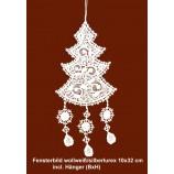 Fensterbild Weihnachtsbaum mit silber-lurex ca. 10 x 32 cm (BxH)