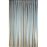 Fertigstores mit Faltenband 5er Falte BxH ca. 1,30 x 2,28 m  Organza gestreift