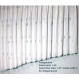 Fertigstores schräg BxH 1,40 x 1,37/0,98 für Stilgarnituren