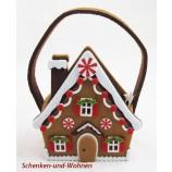 Filz-Tasche Pfefferkuchenhaus bunt, ca.20 x 8,5 x 14 cm
