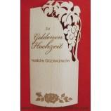 Flaschenetikett - Echtholzfurnier - Zur Goldenen Hochzeit -  selbstklebend