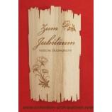 Flaschenetikett - Echtholzfurnier - Zum Jubiläum -  selbstklebend