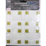 Selbstklebende Fliesendekore Minifliese, Gelb ca. 1,6 cm x 1,6 cm