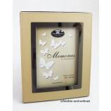 Fotorahmen Memories cremefarben/silber auf MDF 13 x 18 cm